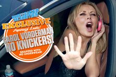 Leaked Exclusive! Carol Vorderman Paparazzi Snap With No Knickers!