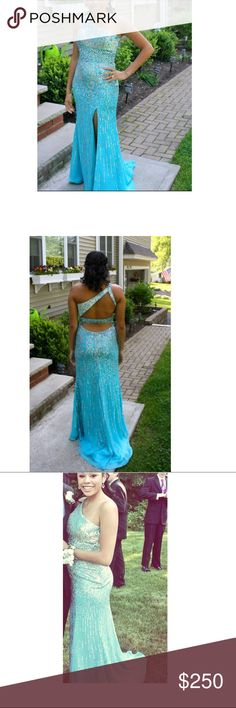 Sherri Hill Prom Dress Size 6 I wore this dress once to Junior Prom 2014 and it has been sitting in my closest since. One shoulder size 6 Sherri Hill from the 2013 collection. Sherri Hill Dresses Prom