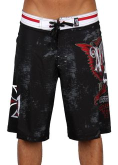 Style Addiction - Affliction Mens Saints Flag Boardshorts, $64.99 (http://www.styleaddiction.com/affliction-mens-saints-flag-boardshorts/)