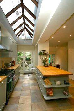 Awesome Roof Lantern Extension Ideas - The Urban Interior Open Plan Kitchen, New Kitchen, Kitchen Decor, Patio Interior, Interior Design, Interior Livingroom, Kitchen Interior, Lac Tahoe, Roof Lantern