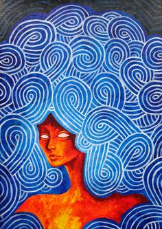 """""""Mind Over Matter"""" by Ma. acrylic painting on watercolor paper. Mind Over Matter, Watercolor Paper, Pencil Drawings, Greeting Cards, Mindfulness, Art Prints, Canvas, Artist, Paintings"""