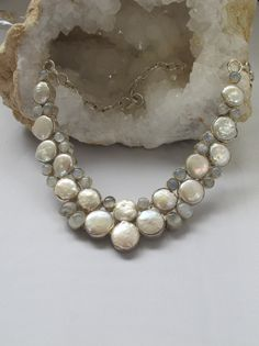 Moonstone and Pearl Necklace 2