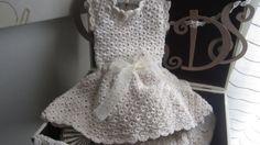 Toddler Dress Crochet Dress Beige Bamboo Silk by ZINULIS on Etsy, $98.00
