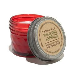 Mason Jar Mini Candle - Pomegranate and Spruce  $12