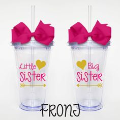 Little Sister Big Sister  Acrylic Tumbler by SweetSipsters on Etsy