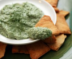 Spinach and Caramelized Fennel Dip (light! with greek yogurt and greek yogurt cream cheese) via Coconut & Lime: recipes by Rachel Rappaport