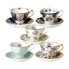 Royal Albert 100 Years of Royal Albert Teacups and Saucers, Set of 5, 1900-1940 Royal Albert,http://www.amazon.com/dp/B0014TIZK8/ref=cm_sw_r_pi_dp_IF.Dsb0JE03XKS4R