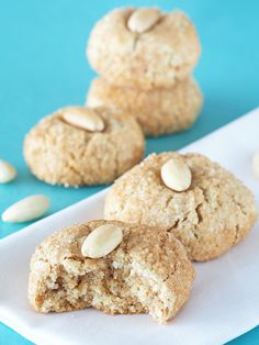 Snickerdoodle Amaretti Cookies - egg whites, sugar (sub erythritol), almond meal, salt, ground cinnamon, blackstrap molasses (might omit), vanilla bean paste, maple syrup (sub extract or omit), blanched almonds