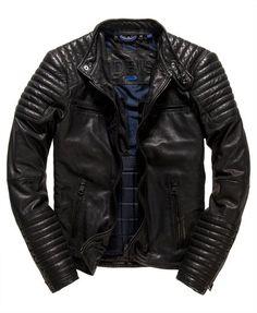 Idris Elba + Superdry Leading Leather Racer Jacket: