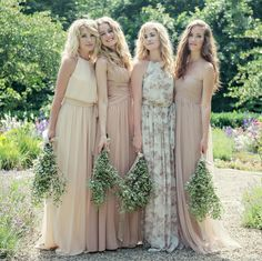 Delicate chiffon dresses to dress up your boho luxe wedding.   Weddington Way