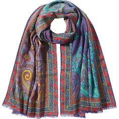 Etro Cashmere Printed Scarf (19.145 RUB) ❤ liked on Polyvore featuring accessories, scarves, multicolor, colorful shawl, paisley shawl, paisley scarves, multi colored scarves and cashmere scarves