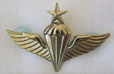 ORIGINAL 1960s Vintage KOREAN MARINE CORPS SENIOR AIRBORNE PARACHUTE BADGE WINGS