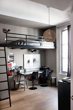 New bedroom loft design mezzanine Ideas Small Room Bedroom, Bedroom Loft, Master Bedroom Design, Dorm Room, Bedroom Decor, Loft Beds, Bedroom Furniture, Bunk Beds, Bedroom Ideas