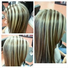 Traditional grown out foilsfoiled highlights vs balayage made foil highlights solutioingenieria Images