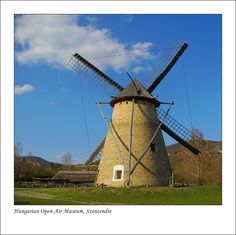 Windmill from the Great Plain - Szentendre, Pest, a riverside town in Hungary near the capital of Budapest.