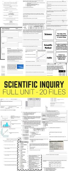This bundle has everything you should need to teach a great skills based unit on Scientific Inquiry! I really want to focus as much of my teaching on student practice as possible, so there's not much direct instruction included in this unit. Science Inquiry, Science Resources, Science Classroom, Science Lessons, Teaching Science, Teaching Resources, Science Ideas, Physical Science, School Resources