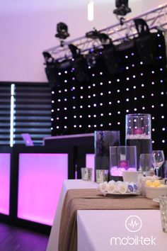 DJ Mariage Québec Table Decorations, Furniture, Home Decor, Weddings, Interior Design, Home Interior Design, Arredamento, Dinner Table Decorations, Home Decoration