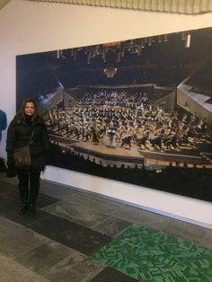 Assistindo a Filarmônica de Berlim, Alemanha em Jan 2015.