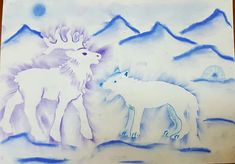 Art Ideas, Winter, Painting, Sea Ice, Kid, Animales, Winter Time, Painting Art, Paintings