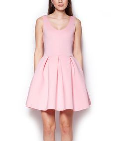 Look what I found on #zulily! Pink Pleated Fit & Flare Dress by FIGL #zulilyfinds