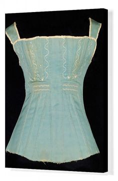 20x16 inch (51x41cm) ready to hang Box Canvas Print. Stays, American, 1825-35. . Image supplied by Heritage Images Historical Costume, Historical Clothing, Historical Dress, Jane Austen, 1800s Clothing, Vintage Clothing, Vintage Outfits, Vintage Fashion, Vintage Corset