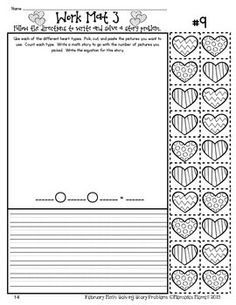 FEBRUARY MATH: SOLVING STORY PROBLEMS ADDITION & SUBTRACTION WITHIN 20 - TeachersPayTeachers.com