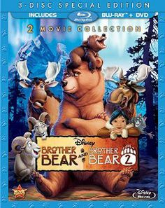 Disney presents two heartwarming and hilarious movies in one incredible collection - <i>Brother Bear</i>, the 2003 Academy Award nominee for best animated feature, and <i>Brother Bear ? together for the first time on Blu-ray. Disney Movie Club, 2 Movie, Disney Movies, Dreamworks Movies, Disney Characters, Brother Bear, Blu Ray Collection, Movie Collection, Walt Disney Pictures