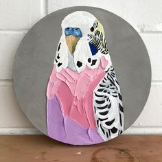 Circle Painting, Black Art Painting, Circle Canvas, Flamingo Painting, Outline Art, Pallet Art, Budgies, Art Club, Portrait Art