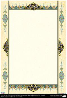 Arte islámico – Tazhib persa - cuadro - 5 | Galería de Arte Islámico y Fotografía