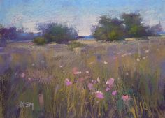 ORIGINAL Pastel PAINTING by Karen Margulis psa  Title: Summer Fields are Calling  Size: 5x7 inches Media: pastel  This is an original pastel painting. It measures 5x7 inches and will be shipped to you unframed, safely protected with glassine paper in between two foamcore boards. Frame is not included but I will supply framing suggestions/pastel care.   I welcome inquiries for commissions.  For more information about my work visit my blog at www.kemstudios.blogspot.com or…