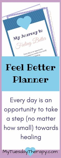 My Journey to Feeling Better. 20 unique pages to help you to create a plan for your health. | Recovery Journal | Health Plan | Chronic Illness | #adrenalfatigue #chronicillness #fibromyalgia #hpaaxisdysfunction via @www.pinterest.com/mytuestherapy