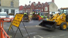 Saltburn  square resurfacing