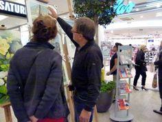 Aquarelle von Frank Koebsch während der regio:polis   FRank Koebsch erläutert seine Aquarelle (2)