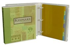 #Keepsake Binder Kit - on Amazon http://amzn.to/1N79vrz #gift   UniKeep's all-new Keepsake Binder will make storing easy and efficient. Our Keepsake Binder will keep all of your precious documents, souvenirs, and photos protected from the elements with our tested archival-safe pages and enclosed case binder.