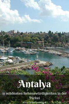 Antalyas Altstadt Kaleici ist einer der schönsten Plätze an der gesamten türkischen Südküste. Die alten osmanischen Häuser schmiegen sich dort an die steilen Klippen am Golf von Antalya perfekt ein: http://www.tuerkeireiseblog.de/sehenswuerdigkeiten-tuerkei/