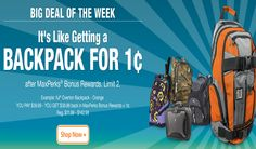 Office Max Penny Backpacks July 28th – August 3rd