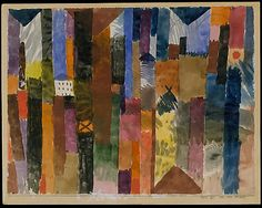 Before the Town (1915)   Paul Klee (German (born Switzerland)   Watercolor on paper, H. 8-7/8, W. 11-3/4 inches