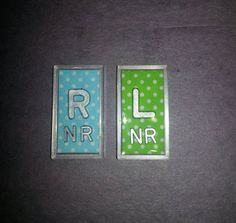 Set of X-ray markers with initials polka dot lead letters by RTMarkers on Etsy https://www.etsy.com/listing/458894706/set-of-x-ray-markers-with-initials-polka