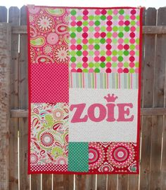 The quilt I made for my new niece, Zoie.