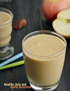Apple Shake, Healthy Date and Apple Smoothie recipe Popsicle Recipe For Kids, Healthy Popsicle Recipes, Healthy Popsicles, Snack Recipes, Healthy Recipes, Apple Smoothie Recipes, Milkshake Recipes, Apple Smoothies, Healthy Milkshake