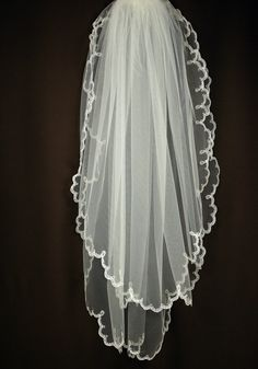 Bridal Veil  Imani Wedding Veil with Embroidery  by TheBridesStore, $49.90