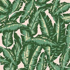 Banana Leaves Drawing - Palm Print by Lauren Amelia Hughes