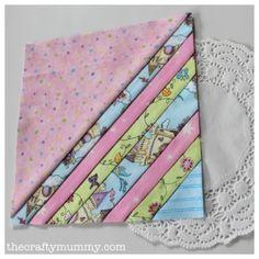 Pastel Stripes Quilt Block - The Crafty Mummy