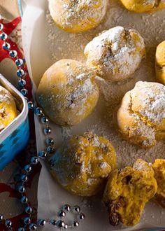Broinhas de frutos secos e abóbora | pumpkin and walnut sweet biscuits