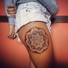 25 Awesome Mandala Tattoo Designs & Meanings Simple Gallery to Choosing Your Tattoo - Tattoos - Mandala Tattoo Design, Mandala Tattoo Mann, Mandala Thigh Tattoo, Thigh Tattoo Designs, Tattoo Designs And Meanings, Hamsa Tattoo, Pretty Tattoos, Love Tattoos, Sexy Tattoos