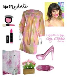 """""""Spring Date"""" by kotnourka ❤ liked on Polyvore featuring Sergio Rossi and Bobbi Brown Cosmetics"""