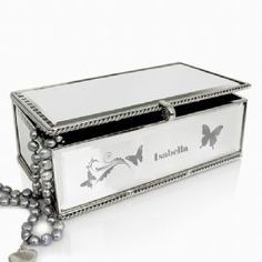 Personalised Butterfly Swirl Jewellery Box