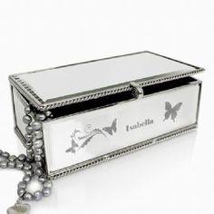 Personalised Butterfly Swirl Jewellery Box