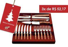Para eles! Kit churrasco Inox 15 peças!  Para comprar, acesse: www.diorsidecor.com.br WhatsApp (12) 9 9715 2022