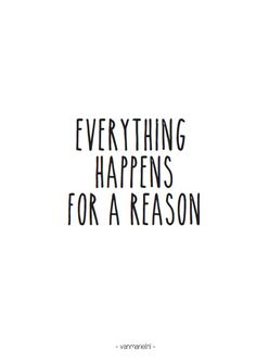 Everything happens for a reason - Buy it at www.vanmariel.nl - Card € 1,25 Poster € 3,50